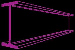 254 x 102 x 25 kg universal beam